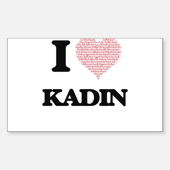 I Love Kadin (Heart Made from Love words) Decal