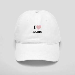 I Love Kadin (Heart Made from Love words) Cap