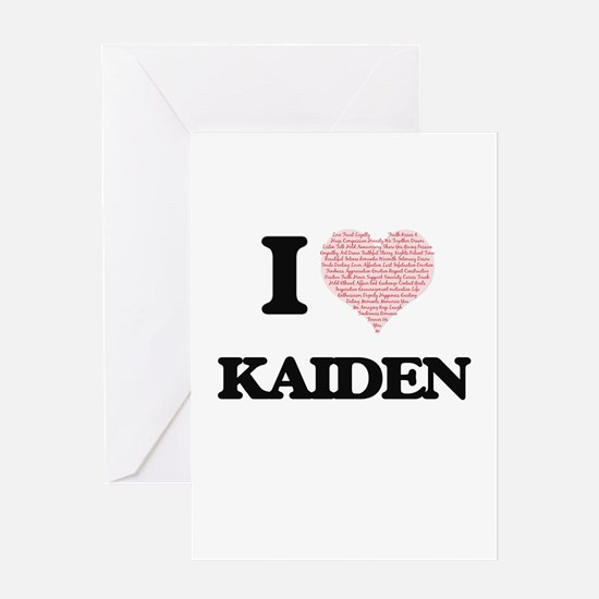 I Love Kaiden (Heart Made from Love Greeting Cards