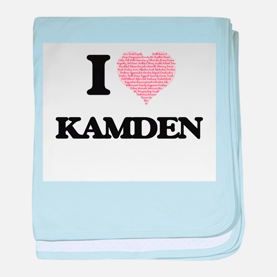 I Love Kamden (Heart Made from Love w baby blanket
