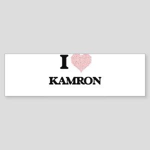 I Love Kamron (Heart Made from Love Bumper Sticker