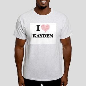 I Love Kayden (Heart Made from Love words) T-Shirt