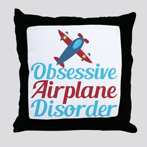 Cool Airplane Throw Pillow