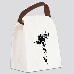 Faroe Islands Silhouette Canvas Lunch Bag