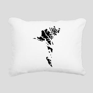 Faroe Islands Silhouette Rectangular Canvas Pillow