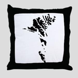 Faroe Islands Silhouette Throw Pillow