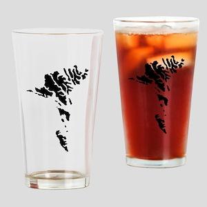 Faroe Islands Silhouette Drinking Glass