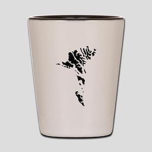 Faroe Islands Silhouette Shot Glass