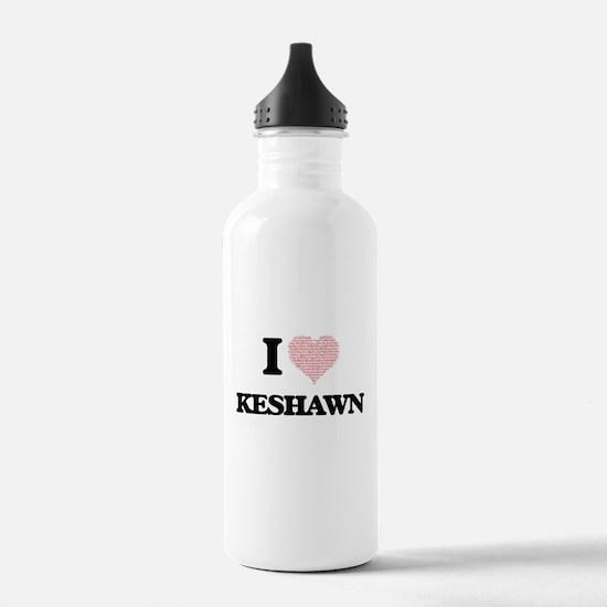 I Love Keshawn (Heart Sports Water Bottle