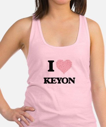 I Love Keyon (Heart Made from L Racerback Tank Top