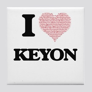I Love Keyon (Heart Made from Love wo Tile Coaster