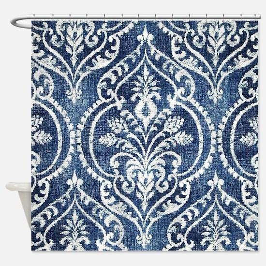 Cute Denim Shower Curtain