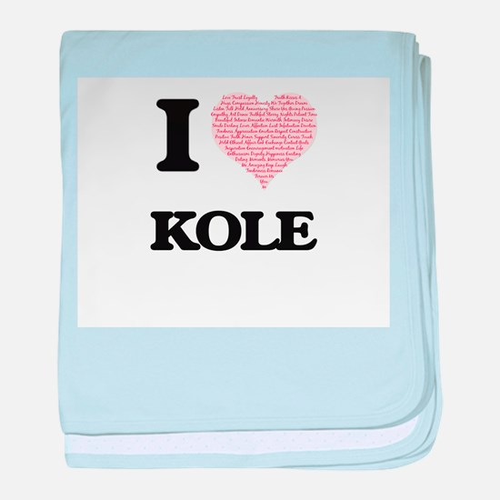 I Love Kole (Heart Made from Love wor baby blanket