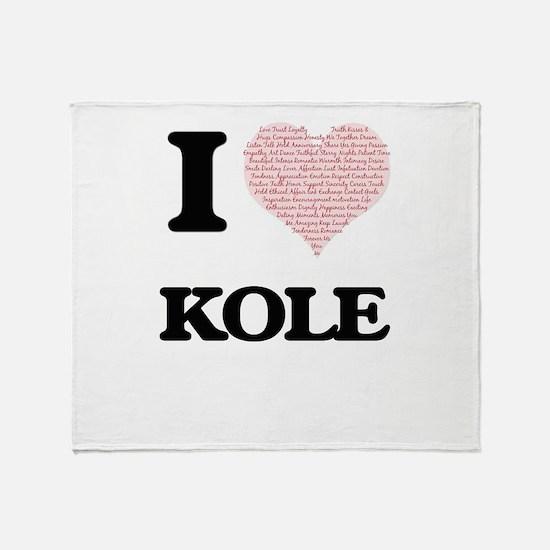 I Love Kole (Heart Made from Love wo Throw Blanket