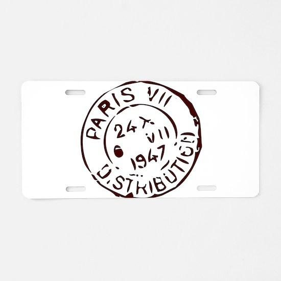 Cute Love letters Aluminum License Plate