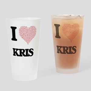 I Love Kris (Heart Made from Love w Drinking Glass