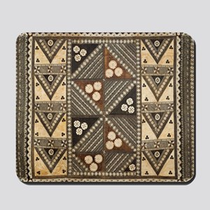 Tribal Masi Tapa Cloth Print Mousepad