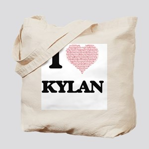 I Love Kylan (Heart Made from Love words) Tote Bag