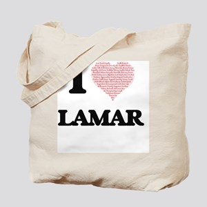 I Love Lamar (Heart Made from Love words) Tote Bag