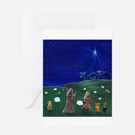 Funny Pembroke welsh corgi art Greeting Card