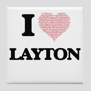 I Love Layton (Heart Made from Love w Tile Coaster
