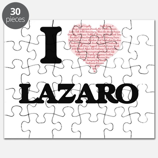 I Love Lazaro (Heart Made from Love words) Puzzle