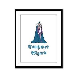 Computer Wizard Framed Panel Print
