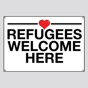 Refugees Welcome Here Banner