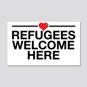 Refugees Welcome Here 20x12 Wall Decal