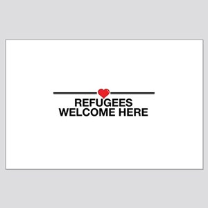 Refugees Welcome Here Posters