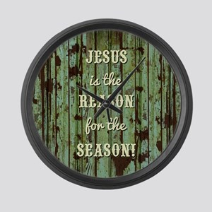 JESUS IS THE REASON Large Wall Clock