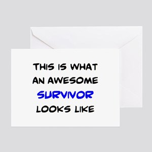 awesome survivor Greeting Card