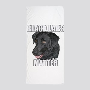 Black Labs Matter Two Beach Towel