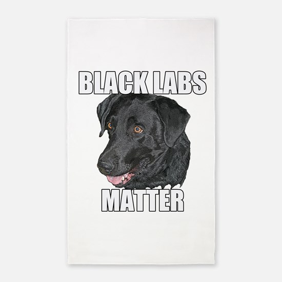 Black Labs Matter Two Area Rug