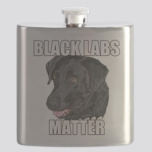 Black Labs Matter Two Flask