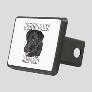 Black Labs Matter Two Rectangular Hitch Cover