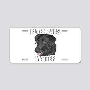 Black Labs Matter Two Aluminum License Plate