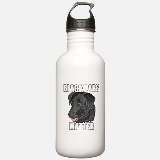 Black Labs Matter Two Water Bottle