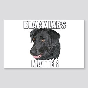 Black Labs Matter Two Sticker (Rectangle)