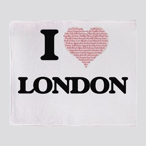 I Love London (Heart Made from Love Throw Blanket