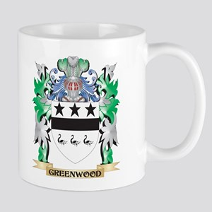 Greenwood Coat of Arms (Family Crest) Mugs