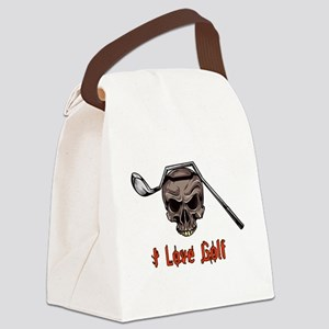 Skull and Bent Golf Club I LOVE G Canvas Lunch Bag