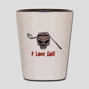 Skull and Bent Golf Club I LOVE GOLF Shot Glass