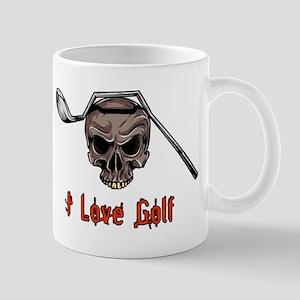 Skull and Bent Golf Club I LOVE GOLF Mugs