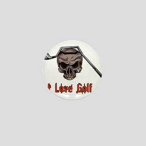 Skull and Bent Golf Club I LOVE GOLF Mini Button