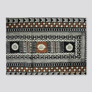 Tribal Masi Tapa Cloth Print 5'x7'Area Rug