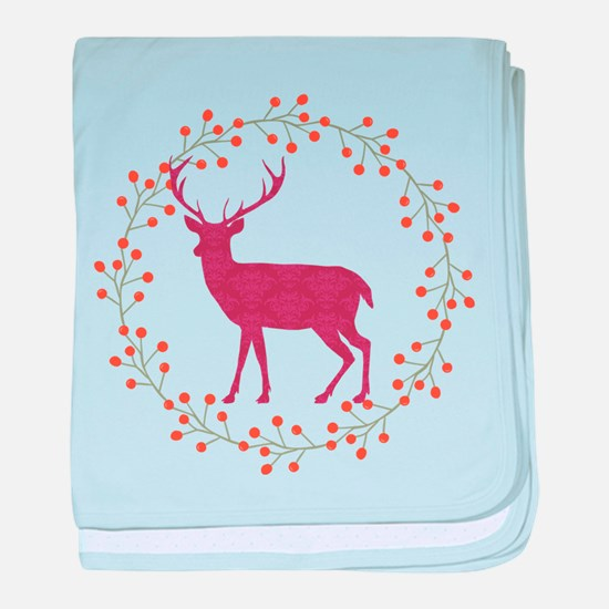Red Stag baby blanket