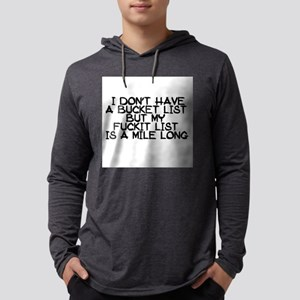 BUCKET LIST HUMOR Long Sleeve T-Shirt