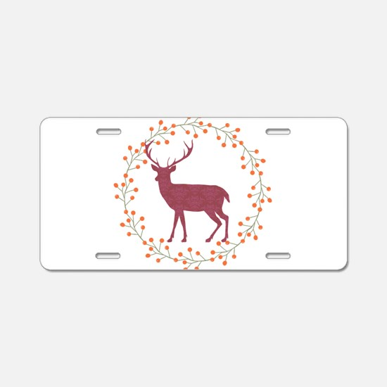Red Stag Aluminum License Plate