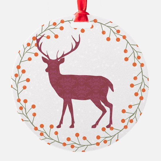 Red Stag Ornament
